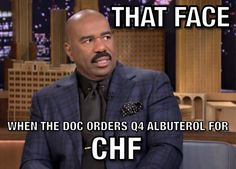 Orders for CHF does not include albuterol