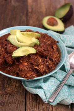 Slow Cooked Chocolate Chicken Mole (gluten-free, paleo)