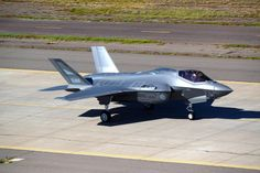 Norway's first F-35 Lightning II taxis to the parking ramp Nov. 11, 2015, at Luke Air Force Base, Ariz. The first two Royal Norwegian Air Force F-35s arrived at Luke in conjunction with their air force birthday. (U.S. Air Force photo/Tech. Sgt. Timothy Boyer)
