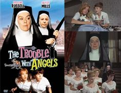 The Trouble with Angels (1966) Hayley Mills stars as Mary Clancy a troublesome student at St. Francis Academy which is run by the Mother Superior (Rosalind Russell)