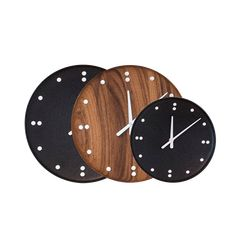 FJ Clock by Finn Juhl   architectmade.com   Danish design Poul Kjaerholm, Concave, Teak Wood, Danish Design, Furniture Decor, Home Accessories, Clock, Black And White, Interior
