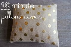 How to make a Pillow/Cushion case in 10 minutes - AWSESOME!!!