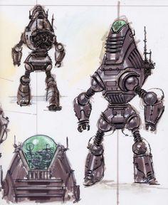 fallout concept art: protectron