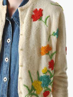Vintage 50s Beaded Cardigan