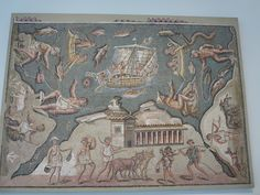 Mosaic with marine and rural scenes. Roman, late imperial, late 2nd-3rd century A.D.
