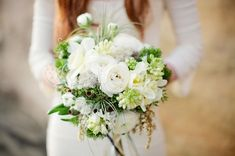 Bohemian Nautical Wedding Bouquet by Modern Bouquet