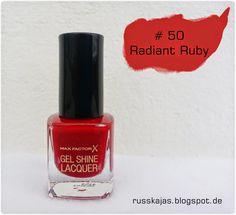 .Russkajas Beauty.: NOTD - Max Factor Gel Shine Nail Polish # 50 Radia...