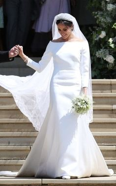 British designer Clare Waight Keller has secured the fashion commission of the year, designing the silk cady wedding gown that Meghan Markle has chosen to wear as she marries Prince Harry in Windsor today.