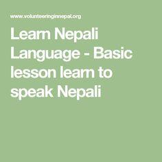 Learn Nepali Language - Basic lesson learn to speak Nepali