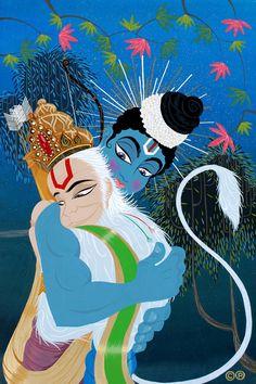 Ram and Hanuman. Shri Hanuman, Krishna, Lord Rama Images, Hanuman Images, Sita Ram, Hindu Deities, Hinduism, Indian Gods, Gods And Goddesses