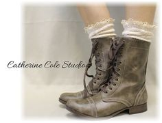 Socks lace boot socks boot sockscombat boot door CatherineColeStudio, $17.50