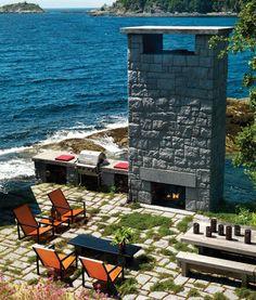 Dramatic Exterior Living-Dining Room | photo Martin Tessler | House & Home