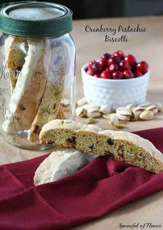 Cranberry Pistachio Biscotti @spoonfulflavor