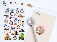 www.novamelina.com - All things pretty! INTERNATIONAL SHIPPING!  #cute #stickers #animals #forest #creatures #forkids #forchildren #girls #kawaii #japanese #beautiful #pretty #golden #shop #novamelina #totoro #hayao #miyasaki