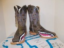 Luxury Tin Haul Womens Man Eater Shark Brown Cowgirl Western