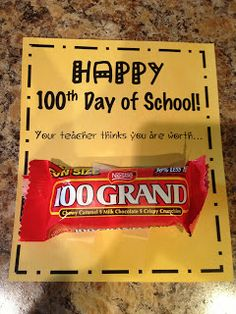 Mrs. Terhune's First Grade Site!: 100th Day of School - Great 100th day ideas!