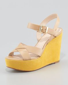 Lysa+Wedge+Sandal,+Tan+by+Pour+la+Victoire+at+Neiman+Marcus+Last+Call.
