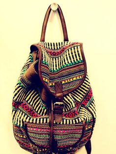 bohemian backpacks for the website from materials found at Luang Prabang night market