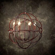BJVB Wrought iron chandelier industrial decoration living room chandelier bedroom dining room chandelier >>> Continue to the product at the image link. (Note:Amazon affiliate link)