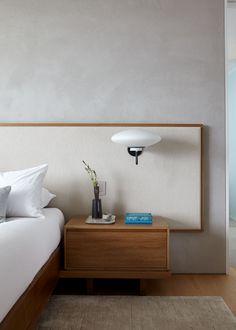 Southampton Beach House by Damon Liss Design on Bed Furniture, Furniture Design, Scandinavian Bedroom Decor, Bedroom Minimalist, Interior Design Studio, Elegant Homes, Home Bedroom, Hotel Bedroom Design, Bedroom Setup