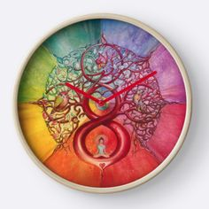 """""""Heart of Infinity"""" - Mandala of Wealth and Balance CLOCK - avaiable on Redbubble"""