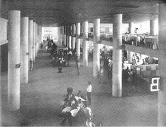 Aeroporto Santos Dumont / Interior de terminal / Década 1950