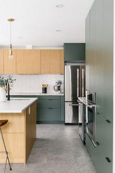 #cocinas #madera #verde