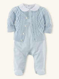 3-Piece Sweater & Bodysuit Set - Outfits & Gift Sets   Layette Boy - RalphLauren.com