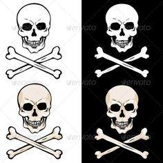 Vector Skull and Crossbones — Photoshop PSD #death #symbol • Available here → https://graphicriver.net/item/vector-skull-and-crossbones/5147908?ref=pxcr