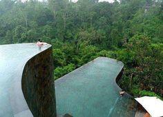 Infinity pools at Ubud, Bali