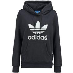adidas Originals Hoodie ($75) ❤ liked on Polyvore featuring black and adidas originals