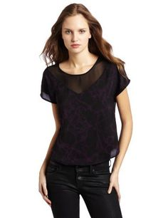 Kensie Women's Sketchy Webs Top, Black Mix, X-Large Kensie. $34.00. Blouse. Made in China. PFMUK4625. Printed. Machine Wash. polyester