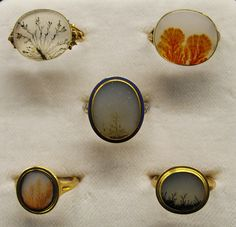 "rings | rings with natural rock formations as the ""stone"" 