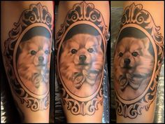 amazing pomeranian dogs art tattoo