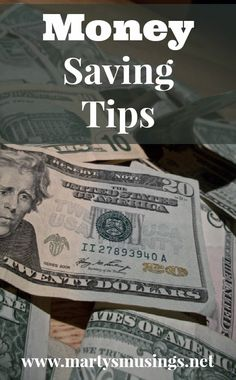 Money Saving Tips from Marty's Musings - just don't send to the thrift store to save money :)