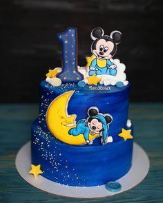 Mickey Birthday Cakes, Baby First Birthday Cake, 25th Birthday Cakes, Mickey Mouse Birthday Cake, Mickey Cakes, Zoo Cake, Cake Designs For Kids, Bolo Mickey, Friends Cake