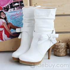 Sweet Upper Stiletto Heel Closed-toes Short Boots