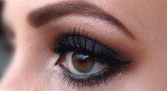 'Classic Black Smokey Eyes' look by Tjasa using Makeup Geek's Corrupt eyeshadow, and Utopia pigment.