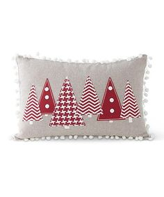 Another great find on #zulily! Pattern Christmas Tree Throw Pillow #zulilyfinds sew