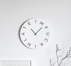 'Im fucking late'