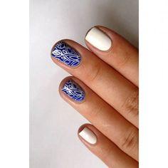 A Blue Grape-re megérte fehérrel nyomdázni 😍💙 @bornprettystore BP-L002 #nails2inspire #stampingnailart #bornprettystorestamping #bluenails #bluegrape Stamping Nail Art, My Nails, Beauty, Instagram, Ongles, Beauty Illustration