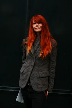 fire hair - red to orange ombre.  Interesting, not my cup of tea, but pretty none the less