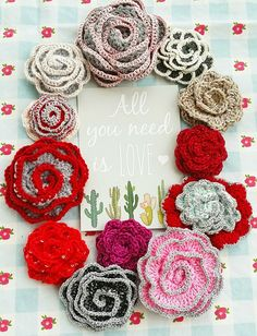 Crochet Rose Motif - Free Crochet Diagram - (Written Pattern In French) - (vanillejolie.canalblog)