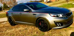 My Kia is gonna have this strip on it pretty soon here love the red Kia Optima Turbo, Pretty Soon, Rims For Cars, Mazda, Garage, Trucks, Future, Vehicles, Red