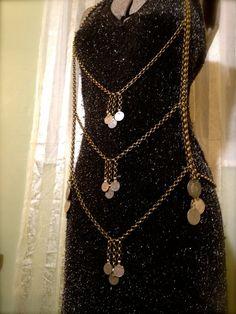 Superconda Body Drape Kuchi coin & Chain by OliviaKissel on Etsy