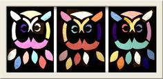cut outs on black cardstock with tissue papers behind owls.cut outs on black cardstock with tissue papers behind The post owls.cut outs on black cardstock with tissue papers behind appeared first on Knutselen ideeën. Art For Kids, Crafts For Kids, Arts And Crafts, Paper Crafts, Owl Bird, Pet Birds, Childrens Art Display, Sunday School Crafts, Autumn Activities
