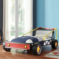 Tribecca Home Kiran Toddler's Red Race Car Twin-size Platform Bed