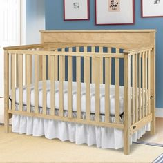 Graco Lauren 4 in 1 Convertible Crib in Natural - Click to enlarge
