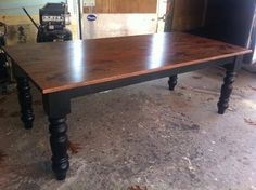 Classic Chunky Turned Leg Farm Table Elegant French by YoureUnique