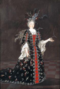 Franziska Sibylla of Saxe-Lauenburg (1675-1733) Margravine of Baden-Baden in fancy dress costume as a magician, 1705